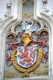 Escudo de armas medieval Brujas Fotografía de archivo