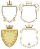 Escudo de armas o escudos Imagen de archivo libre de regalías