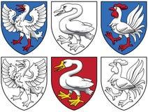 Escudo de armas - pájaros Foto de archivo