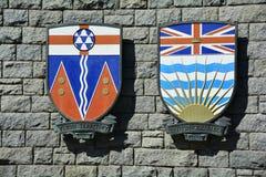 Escudo de armas provincial Imágenes de archivo libres de regalías