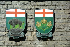 Escudo de armas provincial Fotos de archivo