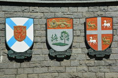 Escudo de armas provincial Fotografía de archivo