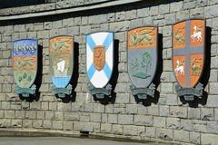 Escudo de armas provincial canadiense Fotografía de archivo libre de regalías