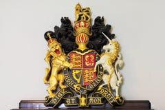 Escudo de armas real del Reino Unido Fotografía de archivo
