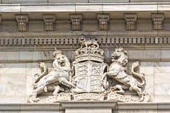 Escudo de armas real del Reino Unido Foto de archivo