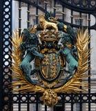 Escudo de armas, reina, Buckingham Palace, Londres, Inglaterra imagen de archivo libre de regalías
