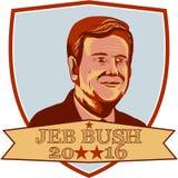 Escudo de Jeb Bush Presidente 2016 Imagen de archivo