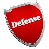 Escudo de la defensa Fotos de archivo
