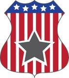 Escudo de la estrella Imágenes de archivo libres de regalías