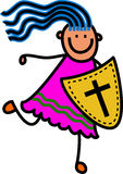Escudo de la muchacha de la fe Imágenes de archivo libres de regalías