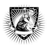 Escudo de los tenis de mesa stock de ilustración