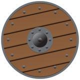 Escudo de madera Imagen de archivo