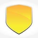 Escudo de oro del vector Fotografía de archivo