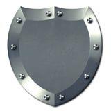 Escudo de plata del metal Fotos de archivo libres de regalías