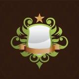 Vector decorativo del escudo Imagen de archivo libre de regalías