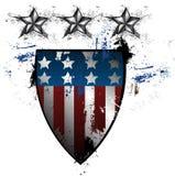 Escudo del americano del Grunge Fotos de archivo libres de regalías