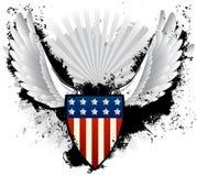 Escudo del americano del Grunge Imagen de archivo