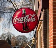 Escudo de la Coca-Cola Fotografía de archivo libre de regalías