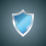 Escudo del azul del vector Icono de la defensa Concepto de la protección Imágenes de archivo libres de regalías