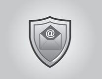 Correo electrónico del escudo Fotos de archivo