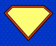 Escudo del héroe en estilo del arte pop Imagenes de archivo