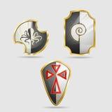 Escudo del icono Foto de archivo libre de regalías