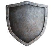 Escudo del metal aislado Imagen de archivo libre de regalías