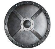 Escudo del metal aislado Foto de archivo libre de regalías