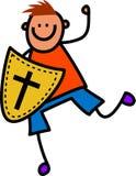 Escudo del muchacho de la fe Fotografía de archivo libre de regalías