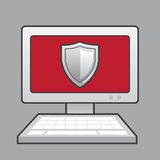 Escudo del ordenador Imagen de archivo libre de regalías