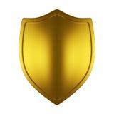 Escudo del oro Foto de archivo libre de regalías