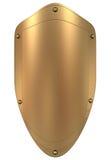 Escudo del oro Imágenes de archivo libres de regalías