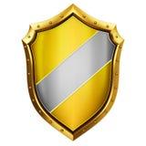 Escudo del oro stock de ilustración