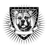 Escudo del pitbull Foto de archivo