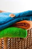 Escudo e toalhas Foto de Stock Royalty Free