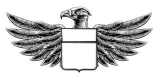 Escudo Eagle del grabar en madera Imágenes de archivo libres de regalías