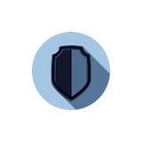 Escudo elegante de la defensa, elemento del diseño gráfico de la idea de la protección Imagen de archivo