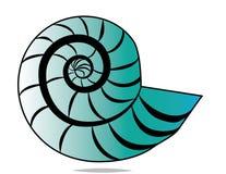 Escudo espiral Fotografia de Stock Royalty Free