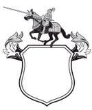 Escudo heráldico de los caballeros Foto de archivo