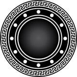 Escudo negro del gladiador con el ornamento Fotografía de archivo