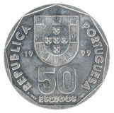 Escudo portoghese della moneta Immagine Stock