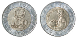 Escudo português da moeda Fotografia de Stock