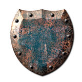 Escudo rústico del metal Imagen de archivo