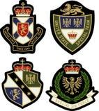 Escudo real de la insignia del emblema Imagenes de archivo