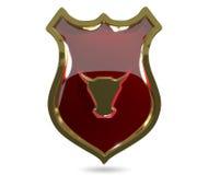 Escudo rojo del toro Foto de archivo