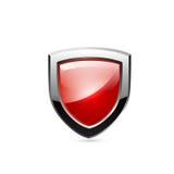 Escudo rojo. Vector Fotos de archivo libres de regalías