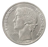 Escudo silver coin Stock Photography
