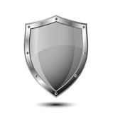 Escudo vacío del metal Imagen de archivo