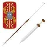 Escudo y arma Imagen de archivo libre de regalías