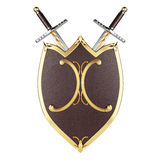 Escudo y espadas Fotografía de archivo libre de regalías
